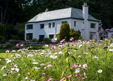 Inverewe House, Scotland, photographed from the garden on a clear summer`s day. Inverewe House, Poolewe Scotland, photographed from the garden on a clear summer royalty free stock images