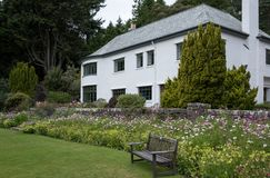 Inverewe House, Scotland, photographed from the garden on a clear summer`s day. royalty free stock photos