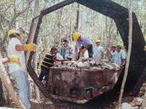 Inverkan av armod på fattiga neighbourhoods i Belize orsaka skogsavverkning Arkivfoton