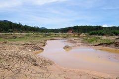 inverkan av klimatförändring som göras torrt land, del 15 för vattenbrister arkivfoto