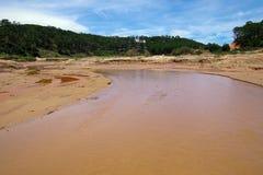 Inverkan av klimatförändring som göras torrt land, vattenbrister royaltyfria bilder
