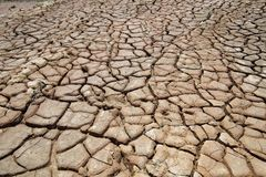 Inverkan av klimatförändring som göras torrt land, vattenbrister part5 royaltyfri bild