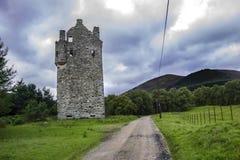 Invermark Castle, Aberdeenshire, Scotland stock images