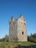 Invermark castle remains, Angus, Scotland. Invermark Castle was built around 1526, the 50 feet high remaining tower was largely restored in 1887 Stock Photos