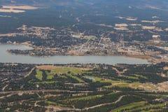 Invermere en el lago Fotografía de archivo libre de regalías