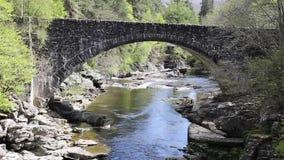 Invermoriston bridge Scotland UK Scottish tourist attraction built by Thomas Telford in 1813 to cross the River Moriston stock video