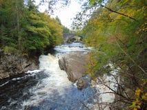 Invermoriston falls and bridges royalty free stock photo