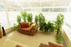 Invernadero con plants_3 stock de ilustración