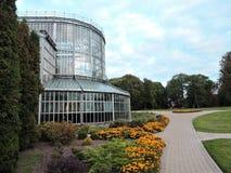 Invernadero de la ciudad de Kretinga, Lituania Fotos de archivo libres de regalías