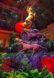 Invernadero del hotel de Bellagio y jardines botánicos Foto de archivo