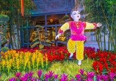 Invernadero del hotel de Bellagio y jardines botánicos Fotografía de archivo