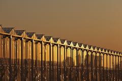 Invernadero en la puesta del sol Imagenes de archivo