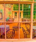 Invernadero en los jardines de Woodstock, Co Kilkenny, Irlanda imágenes de archivo libres de regalías