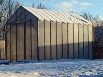 Invernadero Nevado Imágenes de archivo libres de regalías