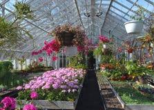 Invernadero para las flores foto de archivo libre de regalías