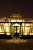 Invernadero real en la noche Fotos de archivo