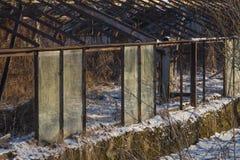 Invernadero viejo abandonado Fotografía de archivo