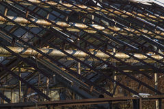 Invernadero viejo abandonado Foto de archivo