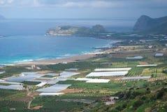 Invernaderos en Crete Fotografía de archivo