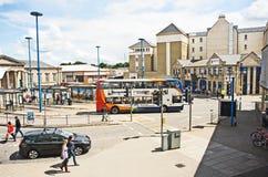 Inverness bussstation. arkivbilder