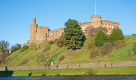 Inverness Castle. An image of Inverness Castle viewed from across the River Ness Royalty Free Stock Images