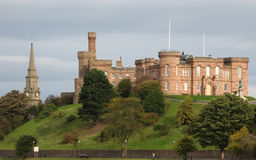 Inverness Castle. The Castle of Inverness during a sunny spell stock images
