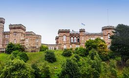 Inverness Castle in Inverness, Scotland stock photography