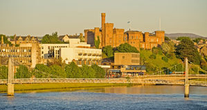 Inverness Castle and Greig Street Bridge. Royalty Free Stock Photography