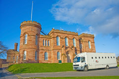 Inverness Castle and Prison van. Stock Images