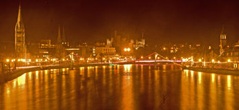 Inverness Castle and River Ness. Stock Photos