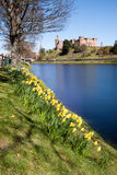 Inverness Castle and River Ness, Scotland Stock Photography