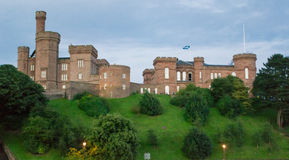 Inverness Castle, Scotland. Inverness Castle landmark of the capital of the highland, Scotland, UK. This is taken during summer sunset royalty free stock photos