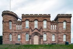 Inverness Castle from the West. On a cloudy day Stock Photography