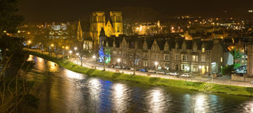 Inverness Cathedral. An image ot  Inverness Cathedral at night from across the River Ness Royalty Free Stock Photos