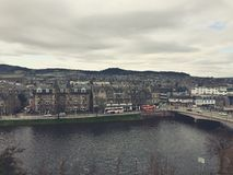Inverness city. City with amazing view and river Royalty Free Stock Photo