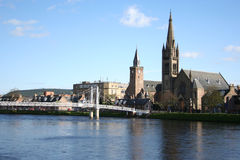 Inverness in de lente Royalty-vrije Stock Foto