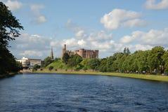 Inverness en rivier Ness Royalty-vrije Stock Foto's