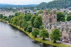 Inverness, Escocia, Reino Unido desde arriba Fotos de archivo libres de regalías