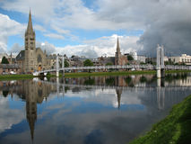 Inverness-Fluss Ness Schottland Lizenzfreie Stockfotografie