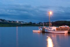 Inverness harbor, Nova Scotia stock image
