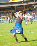Inverness Highland Games. Throwing the hammer at Inverness Highland Games on 20th July 2013 Royalty Free Stock Image