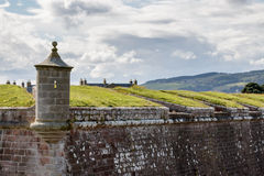 INVERNESS, HIGHLANDS/SCOTLAND - AUGUST 28 : Fort George near inveness Highlands Scotland on August 28, 2015 stock photography