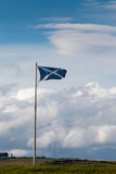 INVERNESS, HIGHLANDS/SCOTLAND - AUGUST 28 : Scottish Flag Flying. At Fort George near inveness Highlands Scotland on August 28, 2015 stock photos