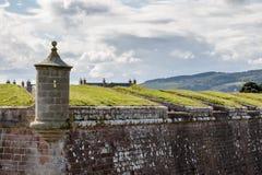 INVERNESS, HIGHLANDS/SCOTLAND - 28 DE AGOSTO: Forte George perto do inv fotografia de stock