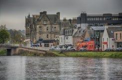Inverness landskap för åskvädret, Skottland arkivbild