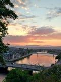 Inverness. North scotland amazing city sunset Stock Photo