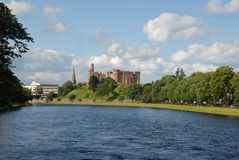 Inverness and river Ness. Inverness Castle River Ness Highland capital royalty free stock photos