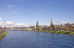 Inverness and river Ness Stock Photography
