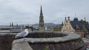 Inverness from rooftop royalty free stock photography