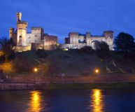 Inverness-Schloss und Fluss Ness, in Inverness. Lizenzfreie Stockfotos